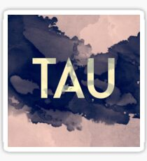 Greek Letter Tau Sticker