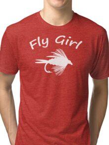 Fly Girl  - Fly Fishing T-shirt Tri-blend T-Shirt
