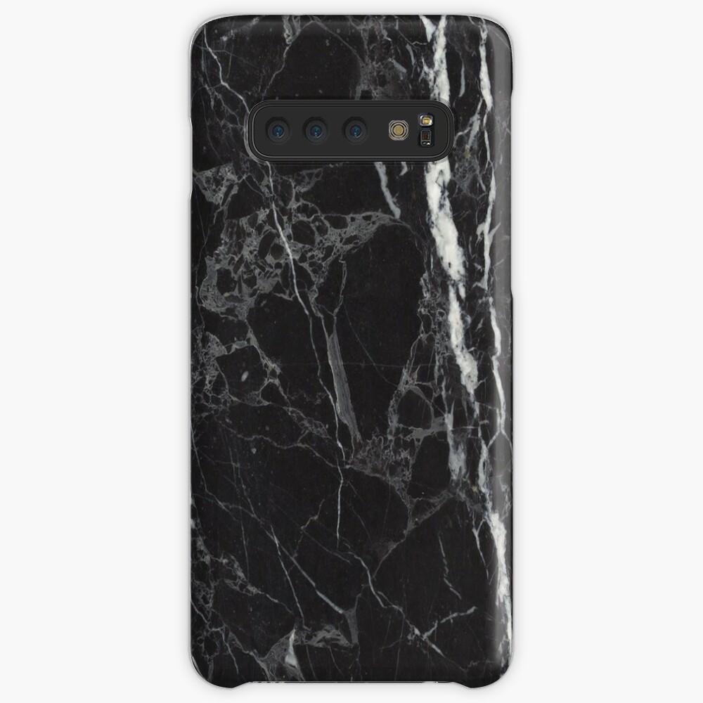 Fundas telefónicas de mármol negro Funda y vinilo para Samsung Galaxy