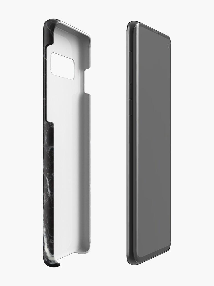 Vista alternativa de Funda y vinilo para Samsung Galaxy Fundas telefónicas de mármol negro