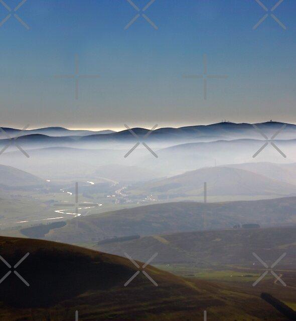 Misty Lanarkshire View by Tom Gomez