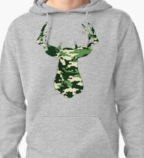 Camo Buck - Hunting T-shirt Pullover Hoodie