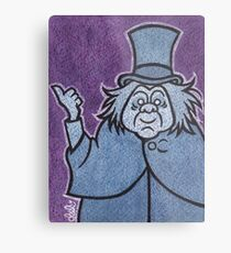 Phineas - Hitchhiking Ghost - The Haunted Mansion Metal Print