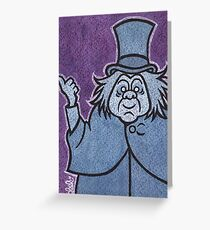 Phineas - Hitchhiking Ghost - The Haunted Mansion Greeting Card