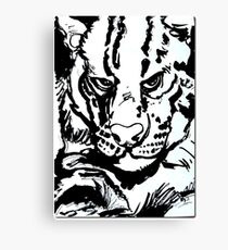 The sea cat (Ink on watercolor paper) Canvas Print