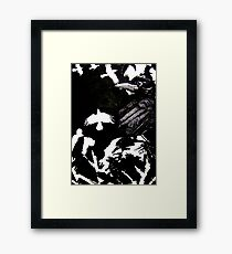 Crows (Drawn on cartridge paper) Framed Print