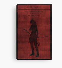 Tomb Raider Gaming Poster Canvas Print