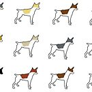 rat terrier all colors silhouettes by marasdaughter