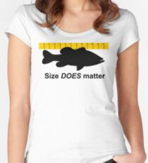 Size does matter - fishing T-shirt Women's Fitted Scoop T-Shirt