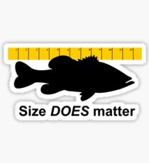 Size does matter - fishing T-shirt Sticker