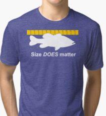 Size does matter - fishing T-shirt Tri-blend T-Shirt