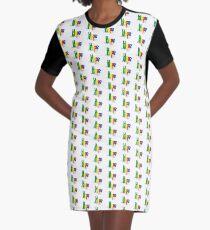 Hope design markerpen art  print Unique Graphic T-Shirt Dress