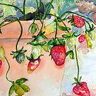 Strawberries by scallyart
