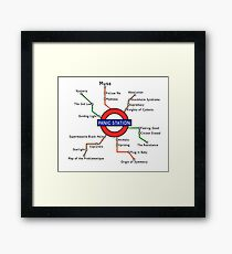 Panic Station Underground Map Framed Print