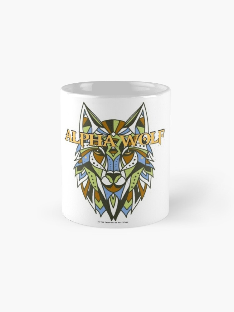 Alternate view of Tribal Alpha Wolf Classic Mug