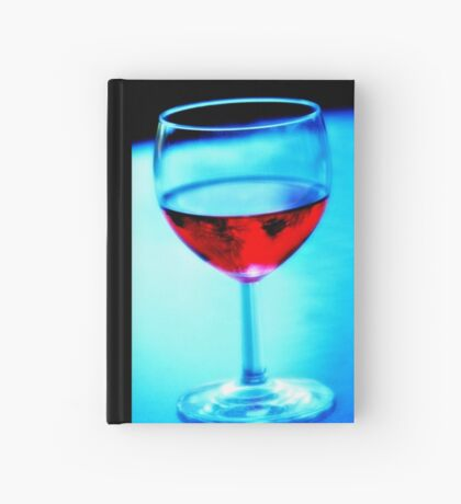 Glass Of Red Wine Hardcover Journal