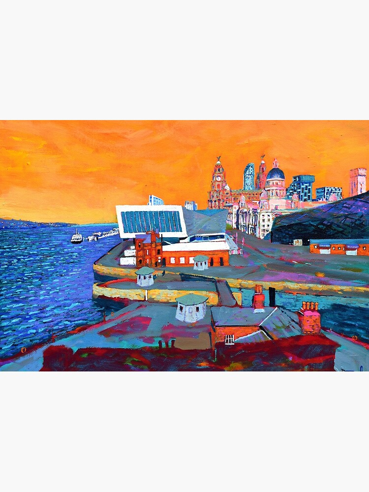 Liverpool: The Pier Head from the Tate by eolai