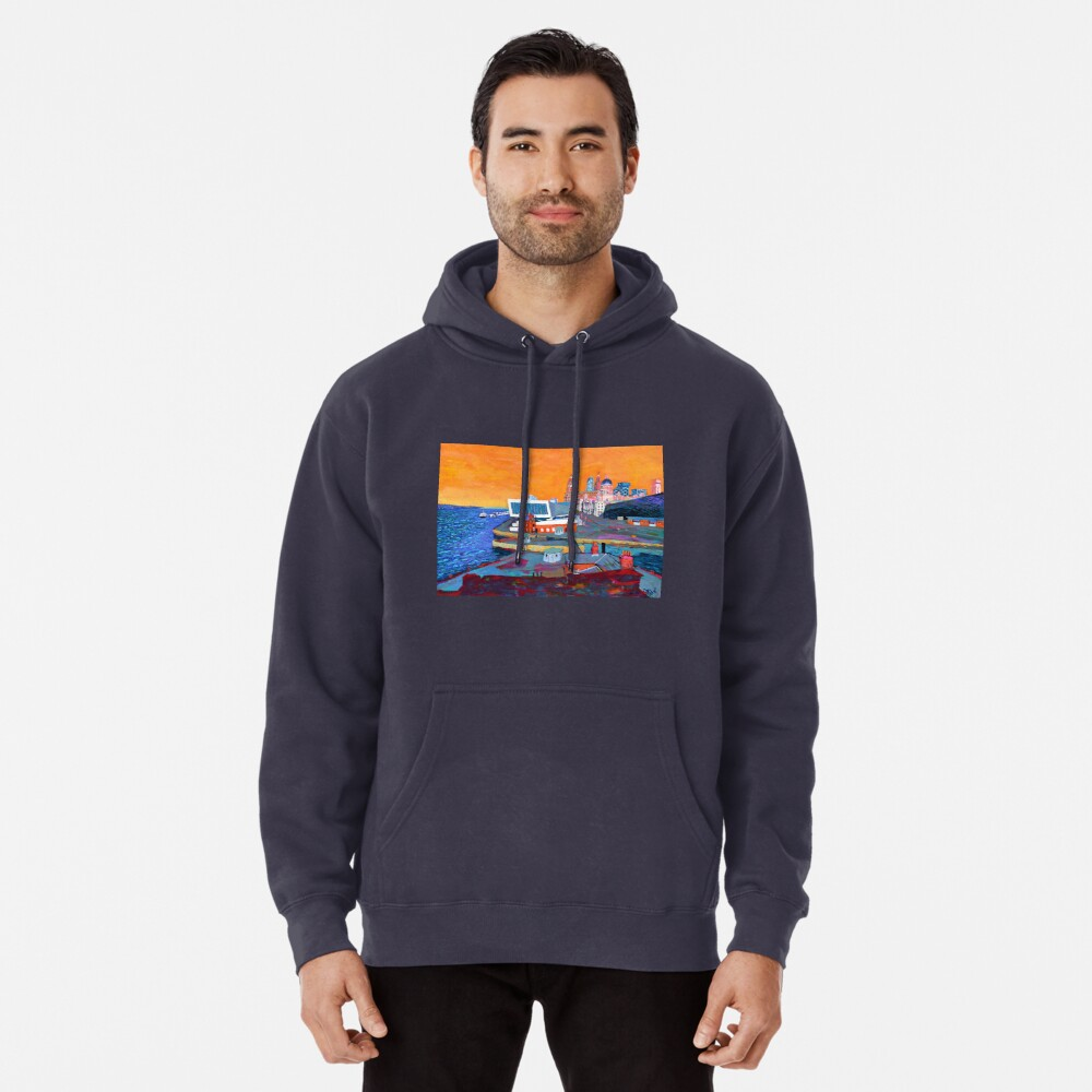 Liverpool: The Pier Head from the Tate Pullover Hoodie