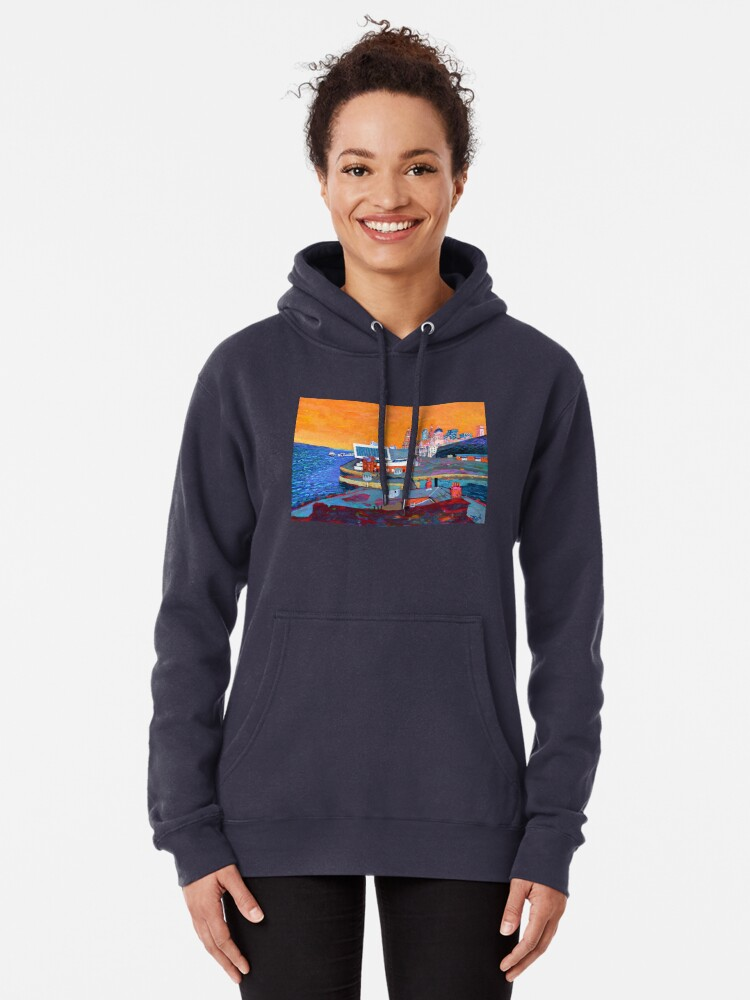 Alternate view of Liverpool: The Pier Head from the Tate Pullover Hoodie