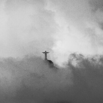 Christ The Redeemer in the Clouds by JohnDalkin