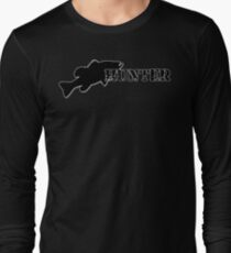 Bass Hunter - Bass fishing t-shirt Long Sleeve T-Shirt