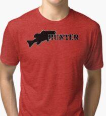 Bass Hunter - Bass fishing t-shirt Tri-blend T-Shirt