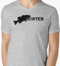 Bass Hunter - Bass fishing t-shirt Men's V-Neck T-Shirt