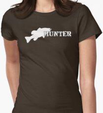 Bass Hunter - Bass fishing t-shirt Womens Fitted T-Shirt