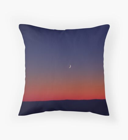 Twilight Waxing Crescent Zone Throw Pillow
