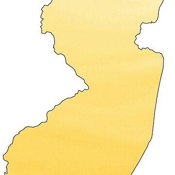 New Jersey Yellow Ombré  by jennaannx11
