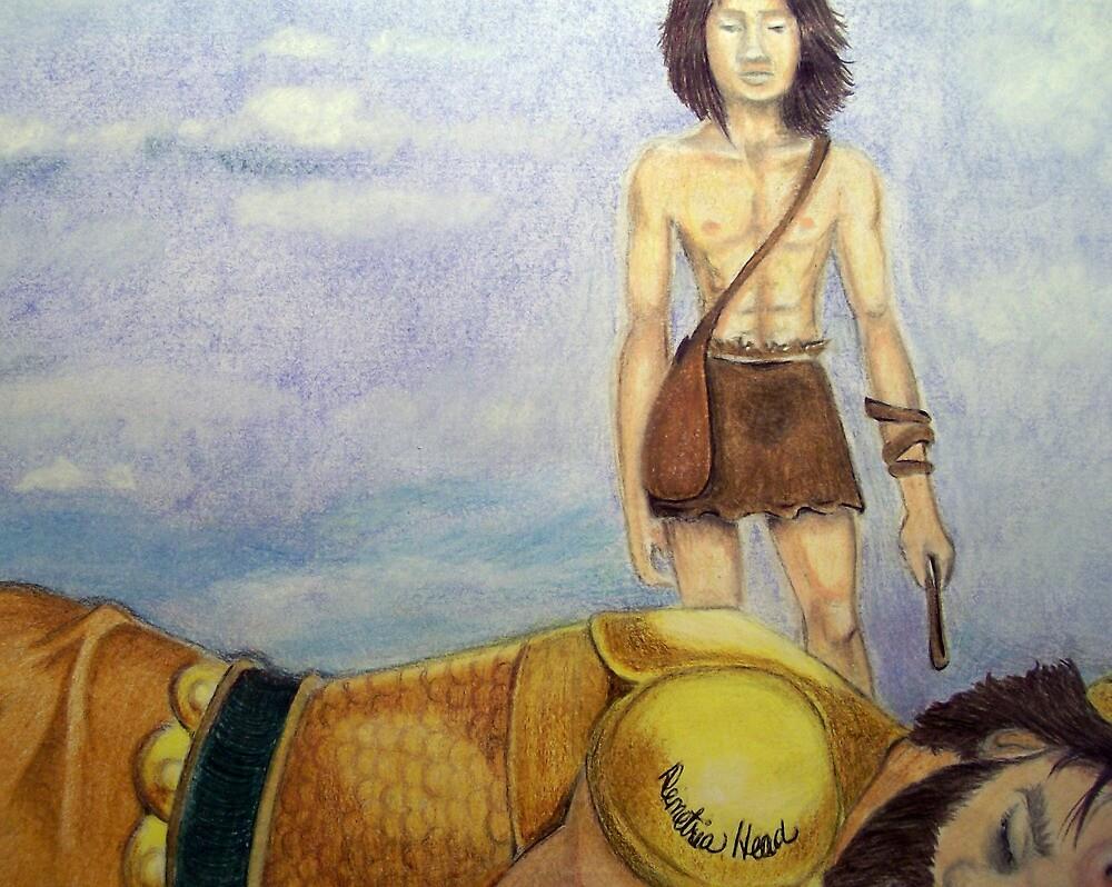 David defeats Goliath of Gath by Demetria  Head