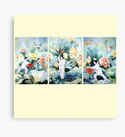 Chinese Fan Dancers Canvas Print