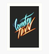 Camden Town - Light Calligraphy Art Print
