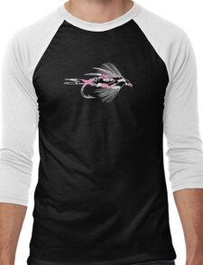 Pink Camo Fly - Fly Fishing T-shirt Men's Baseball ¾ T-Shirt