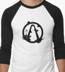 Vault Logo Black - Borderlands Baseball ¾ Sleeve T-Shirt