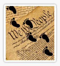 Walking on the Constitution by the Supreme Court Stickers, Shirts, Cases, Skins, Mugs Sticker