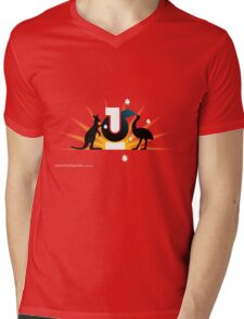 T-Shirt 16/85 (Public Office) by Erik Gorton Mens V-Neck T-Shirt