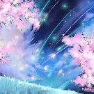 Kirschblüten-Anime-Galaxie von LunarAphelion