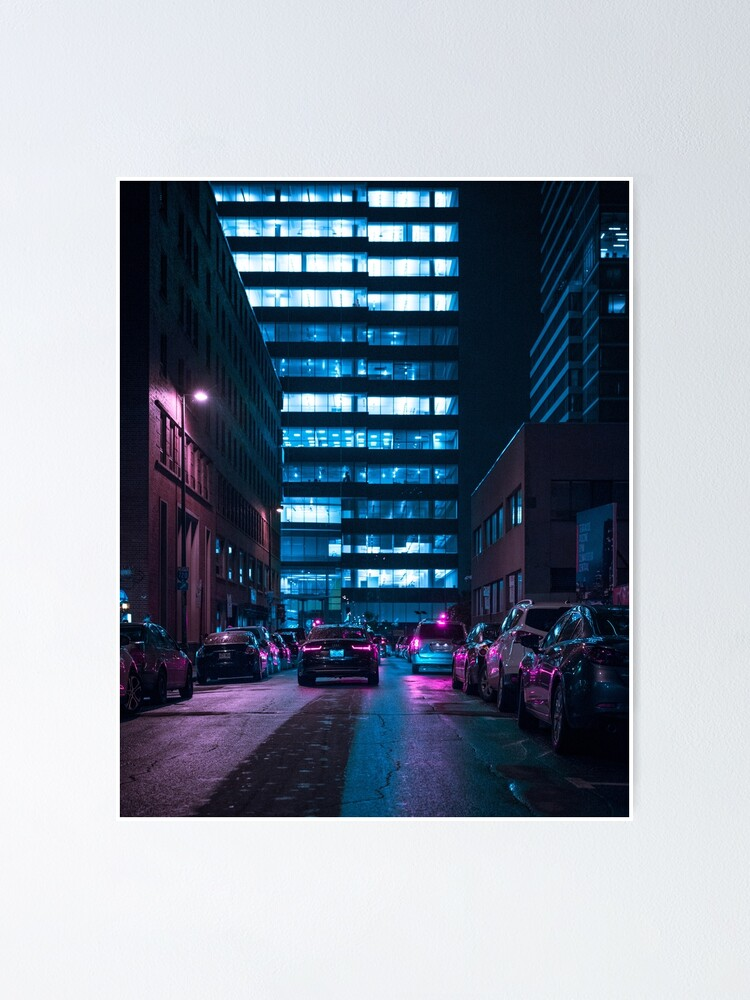 Alternate view of Downtown Montreal Poster