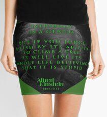 Minifalda Citas de: Albert Einstein en Genio - Póster, pegatina, regalos y camisetas