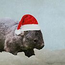 Christmas Wombat by Denise Abé