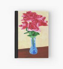 Cuaderno de tapa dura Vase of Red Flowers