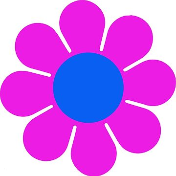 Flor rosa azul Hippie Flower Power Daisy de hilda74
