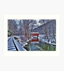 Wooddale Covered Bridge Art Print