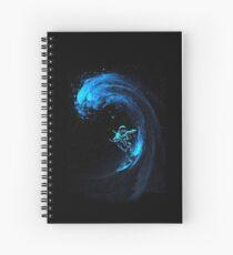 space turtle animal gren adverture Spiral Notebook