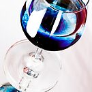 Blue Wine by Sandra Wicklund