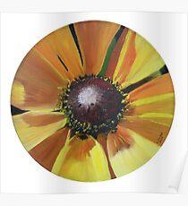 Sunflower - Oil on vinyl record Poster