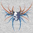 Skull Design on Hoodie by Jim Felder