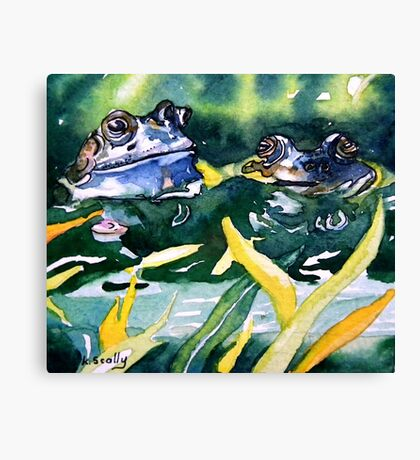 Looks ok to me - frog blue Canvas Print