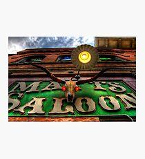 Matts Saloon Photographic Print